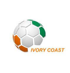 Abstract soccer ball with national flag colors vector
