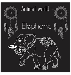 Animal world elephant thai elephant style i vector