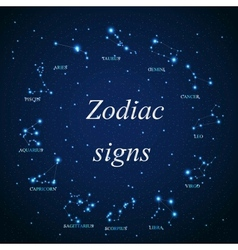 Aries zodiac sign of the beautiful bright vector