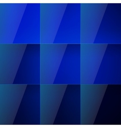 Blue aqua shiny squares abstract background vector image
