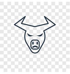 Buffalo concept linear icon isolated on vector