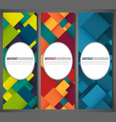Business banner with colorful squares business vector