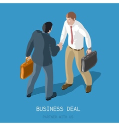 Business Deal People Isometric vector
