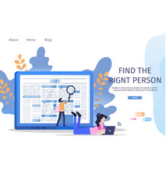 Business manager job search employee magnifier vector