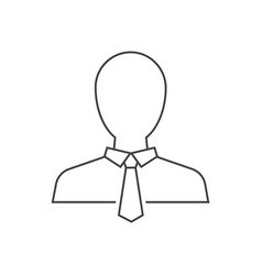 businessman avatar outline icon on white vector image