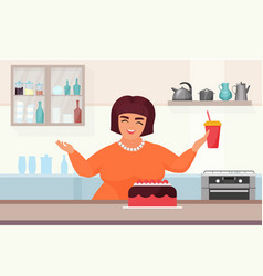 cakes making process woman confectioner cooking vector image