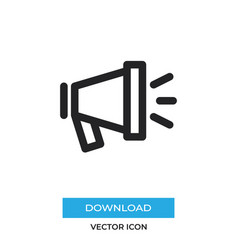 Campaigning icon simple car sign vector