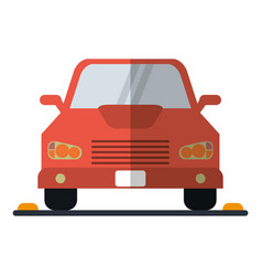 car sedan vehicle transport icon vector image