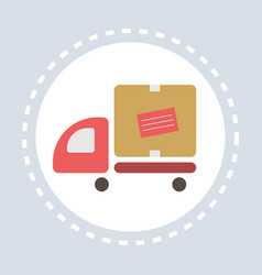 cargo van car truck delivery service shopping icon vector image