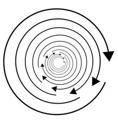 Circular circle arrow right radial arrow icon vector