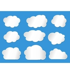 clouds line vector image