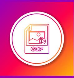 Color gif file document icon download gif button vector