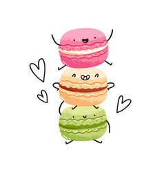 Crazy yummy macarons vector