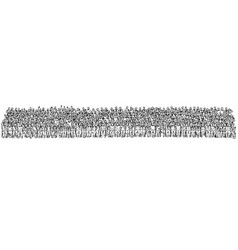 crowd people sitting and standing together vector image