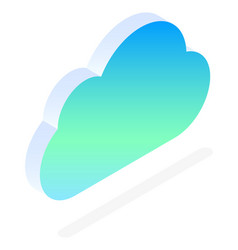 datacenter cloud with files online storage icon vector image