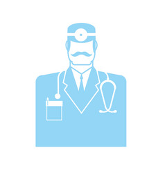 doctor icon physician sign symbol vector image