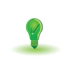 Eco bulb with pencil vector