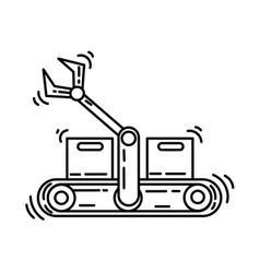 ecommerce productivity icon hand drawn icon set vector image