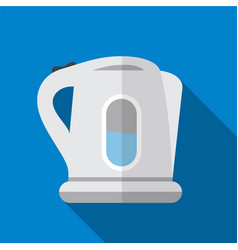 Electric kettle flat icon vector