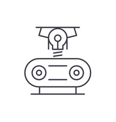 electrogeneration line icon concept vector image