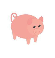 farm pig animal domestic rural isometric icon vector image