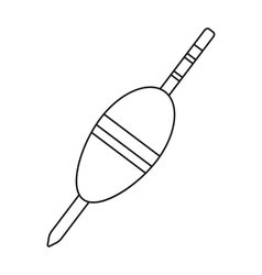 Fishing float icon in outline style isolated on vector
