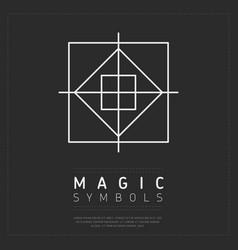 Geometric white symbol of magic vector