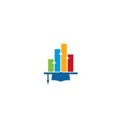 graph education logo icon design vector image