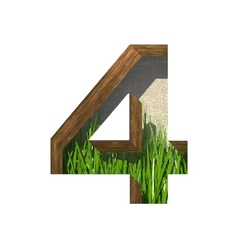 Grass cutted figure 4 Paste to any background vector