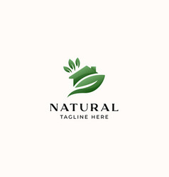 Green house logo template isolated in white vector