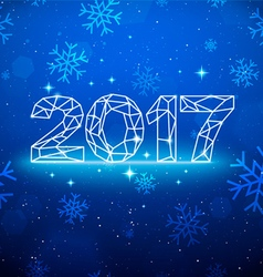 Happy New 2017 Year Greetings Card vector