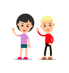 happy people cartoon isolated on white vector image