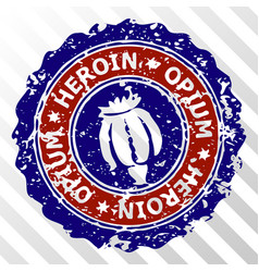 Heroin opium stamp eps icon vector