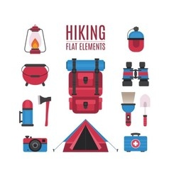 hiking elements vector image
