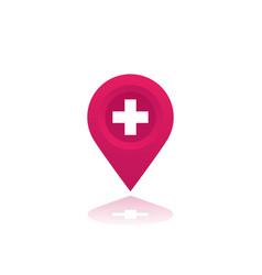 Hospital map mark vector