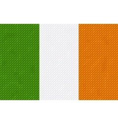 Irish flag background made with embroidery vector