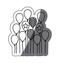 Isolated party balloon design vector