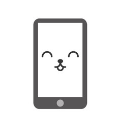 kawaii cellphone cartoon vector image
