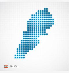 lebanon map and flag icon vector image