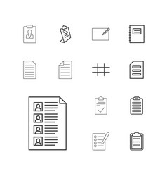 List icons vector