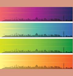 luanda multiple color gradient skyline banner vector image