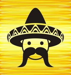 Man with sombrero vector image