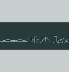 Memphis single line skyline vector