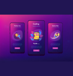 mobile application development app interface vector image