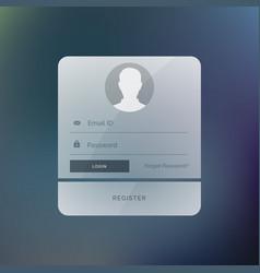 Modern login form user interface design template vector