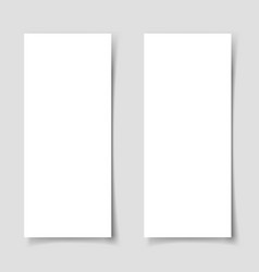 mok-up two narrow vertical flyers template vector image
