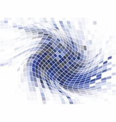 mosaic swirl vector image vector image