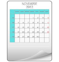 november 2012 vector image