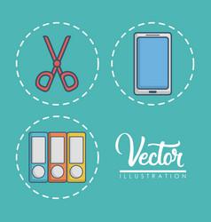 Office elements design vector