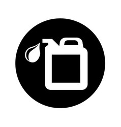 Oil gallon isolated icon vector
